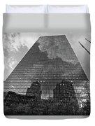 World's Largest Canvas John Hancock Tower Boston Ma Black And White Duvet Cover