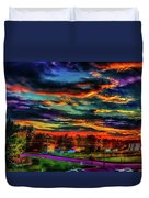 World's Most Psychedelic Autumn Sunsset Duvet Cover