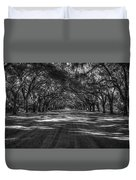 Wormsloe Plantation 2 Live Oak Avenue Art Duvet Cover