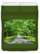 Wormsloe Plantation Duvet Cover