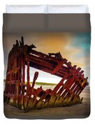 Worn Rusting Shipwreck Duvet Cover