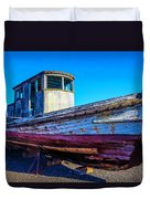 Worn Weathered Boat Duvet Cover