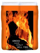 worthy of HELL fire Duvet Cover