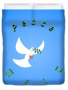 Wounded Dove Symbol Of Peace  Duvet Cover