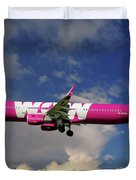 Wow Air Airbus A321-211 Duvet Cover