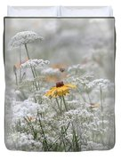 Wrapped In Queen Anne's Lace Duvet Cover