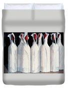 Wrapped Wine Bottles  Number One Duvet Cover