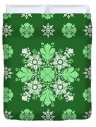 Wrapping Wallpaper Floral Seamless Tile For Website Vector, Repeating Foliage Outline Floral Western Duvet Cover