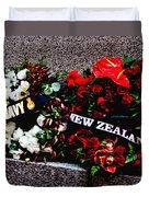 Wreaths From New Zealand And Our Navy Duvet Cover