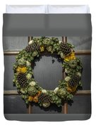 Williamsburg Wreath 21b Duvet Cover