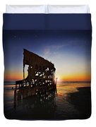 Wreck Of The Peter Iredale-b Duvet Cover