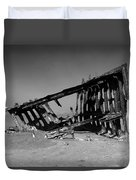 Wreck Of The Peter Iredale Duvet Cover