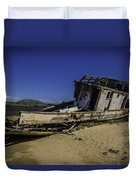 Wrecked On A Sand Bar Duvet Cover