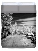 Wrecking Yard In Infrared 3 Duvet Cover