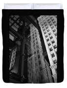 Wrigley Building Reflections Duvet Cover
