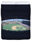 Wrigley Field, Chicago, Cubs V Duvet Cover