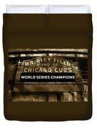 Wrigley Field Sign - Vintage Duvet Cover