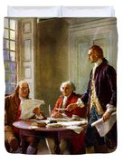 Writing The Declaration Of Independence Duvet Cover