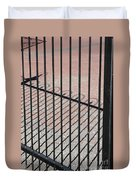 Wrought-iron Gate And Shadows Duvet Cover