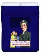 Ww2 Us Cadet Nurse Corps Duvet Cover