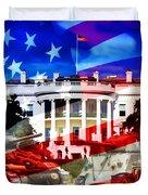 Ww2 Usa White House Duvet Cover