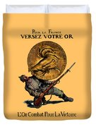 Wwi Gold For French Victory Duvet Cover