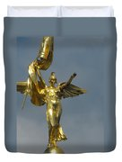 Wwi Gold Winged Victory Statue Duvet Cover