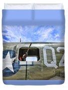 Wwii Aircraft Gun Window Duvet Cover