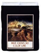 Wwii: Color Line Poster Duvet Cover