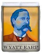 Wyatt Earp Poster Duvet Cover