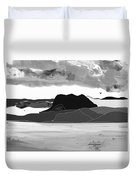 Wyoming Landscape 3 - B-w Duvet Cover