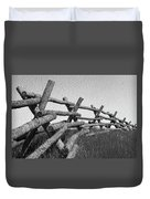 Wyoming Snow Fence Duvet Cover