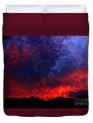 Wyoming Sunset On Fire Duvet Cover