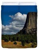 Wyoming's Devil's Tower Duvet Cover