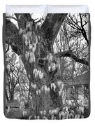 Wysteria Tree In Black And White Duvet Cover