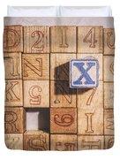 X Blocks Duvet Cover
