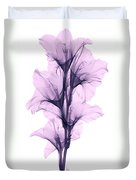 X-ray Of A Gladiola Flower Duvet Cover