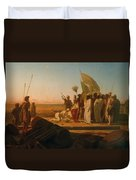 Xerxes At The Hellespont Duvet Cover