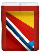 Xochimilco Boat Abstract 1 Duvet Cover