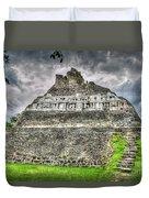 Xunantunich  El Castillo Duvet Cover