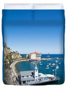 Yacht Club And The Casino Duvet Cover