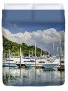 Yacht Lot Duvet Cover
