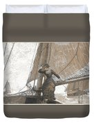 Yachting Girl Duvet Cover