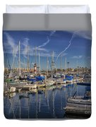 Yachts And Things Duvet Cover