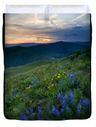 Yakima River Canyon Sunset Duvet Cover