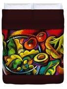 Yammy Salad Duvet Cover by Leon Zernitsky
