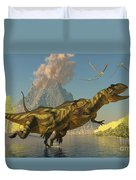 Yangchuanosaurus Dinosaurs Duvet Cover
