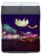 Yangshuo Trees By Night Duvet Cover