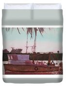 Yankee Town  Fishing Boat Duvet Cover