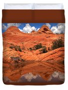 Yant Flat Canyon Reflections Duvet Cover